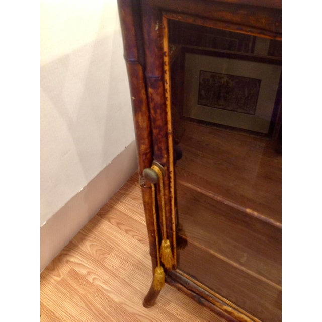 Brown 19th Century English Bamboo Cabinet For Sale - Image 8 of 13