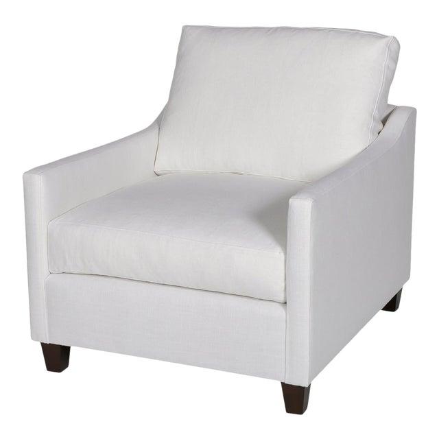 Moss Home Megan Chair Safari Optic White Linen For Sale