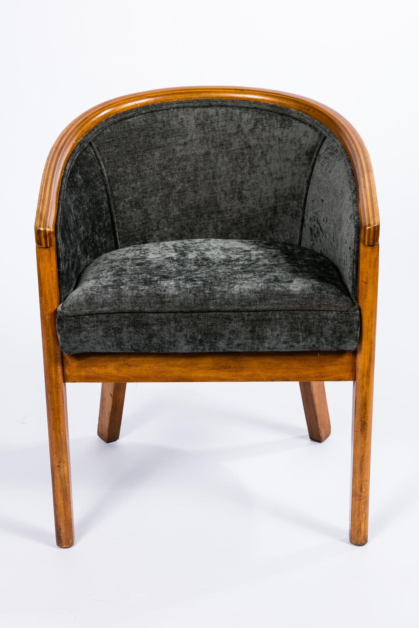 Modern Vintage Barrel Chairs   A Pair For Sale   Image 3 Of 6