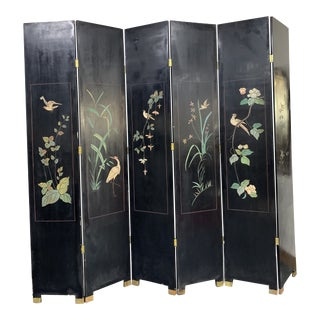 Asian Style Room Divider Screen For Sale