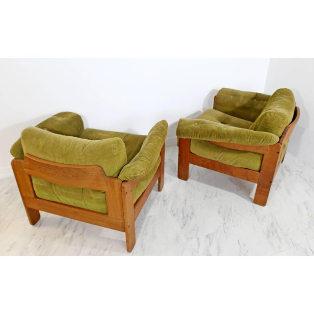 Textile Pair of 1960s Mid-Century Modern N. Eilersen Danish Lounge Chairs For Sale - Image 7 of 12