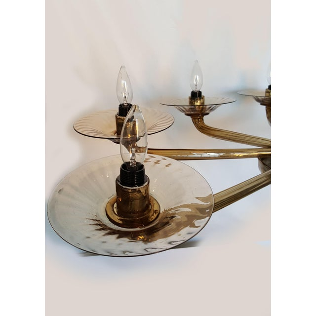 Murano Oval Chandelier For Sale - Image 9 of 9