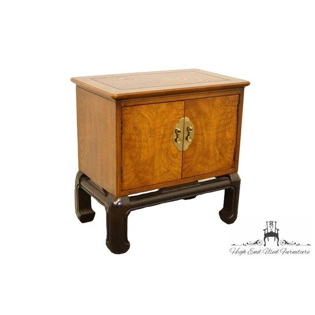 Lane Furniture Alta Vista, Va Asian Modern Cabinet Nightstand. The Nightstand Has The Lane Furniture Stamp On The Inside.
