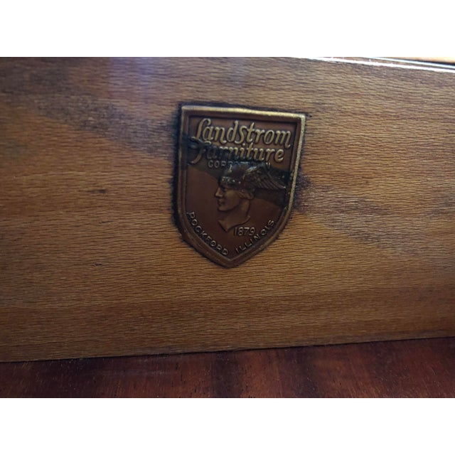 1920's Antique Solid Wood Desk Vanity For Sale - Image 12 of 13
