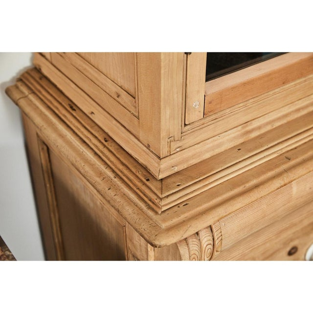 Late 19th Century Pine Cabinet W/Blue Interior For Sale - Image 5 of 10
