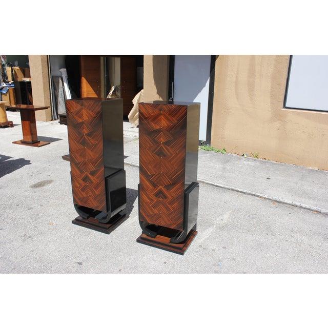 French Art Deco Macassar Ebony Pedestals - A Pair - Image 6 of 10