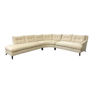 RJones Villon Curved Neutral Modular Sectional For Sale