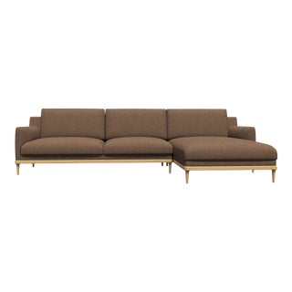 Modern Aquia Brown Sectional For Sale