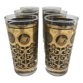 Vintage Bar Glasses - Set of 6 For Sale