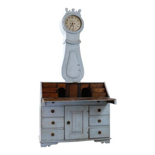 18th Century Painted Swedish Clock Desk For Sale