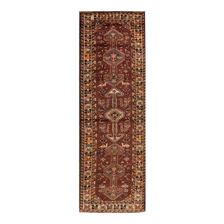 "Mid-20th Century Vintage Persian Shiraz Rug, 3'1"" X 10' For Sale"