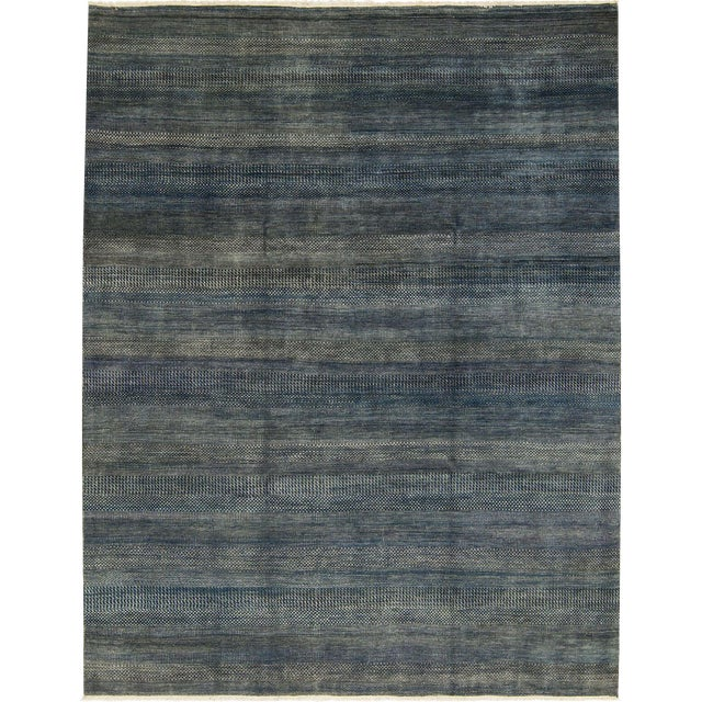 "Contemporary Hand Woven Rug - 8'11"" x 11'9"" For Sale"