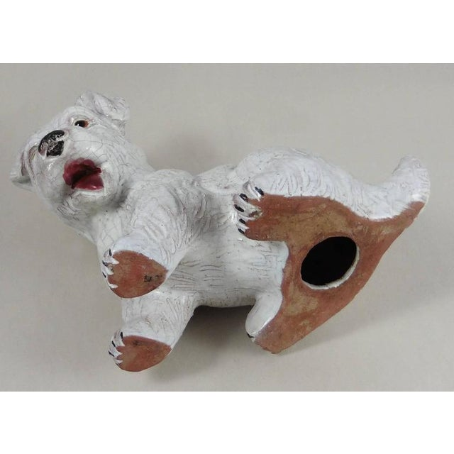 1950 French White Terracotta Dog For Sale - Image 5 of 5