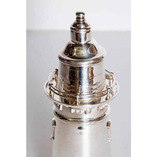 This cocktail/martini shaker is a contemporary copy after the 1927 original by International Silver Co. of Meriden,...