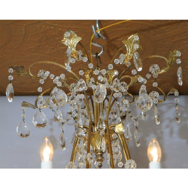 Fine German Eight-Light Bronze Chandelier For Sale In West Palm - Image 6 of 10