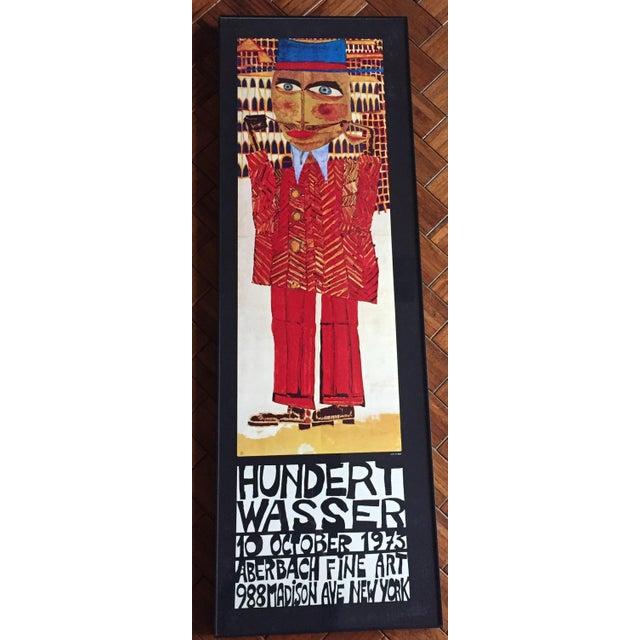 """Vintage 1973 Framed """"Hundertwasser"""" Exibition Poster For Sale - Image 11 of 11"""