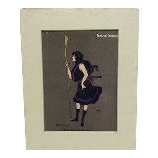 """1902 Vintage Turkish Advertising Print """"Bessie - Stroke at Vassar"""" For Sale"""