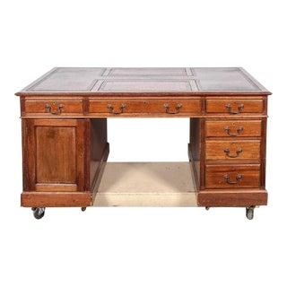 19th Century Georgian Mahogany Partner's Desk For Sale