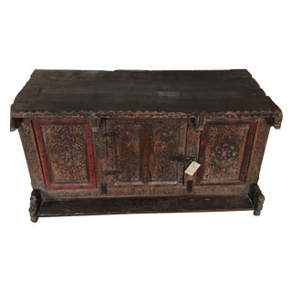 Antique Spanish Polychrome Trunk