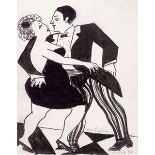 John Grillo, Tango Ink Drawing For Sale