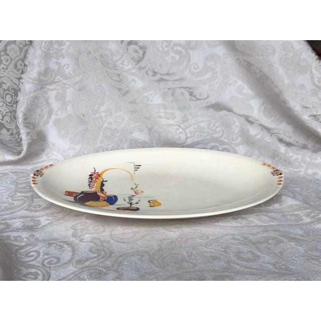 Paden City Pottery Southwestern Mexico Transferware Design Platter For Sale - Image 12 of 13