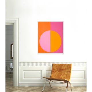 """Medium """"Pink and Orange Forever"""" Print by Stephanie Henderson, 32"""" X 40"""" Preview"""