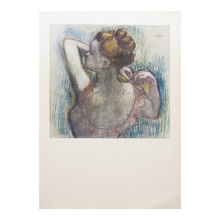 1959 Art Deco Lithograph of Dancer by Degas For Sale
