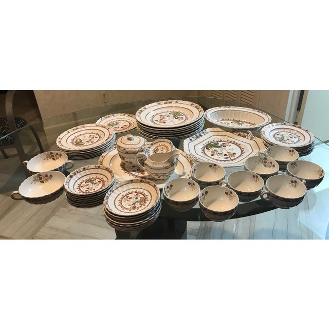 1940s 1940s Vintage Copeland Spode Cowslip China Set - 63 Pieces For Sale - Image 5 of 13