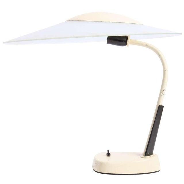 White Art Deco Desk Lamp For Sale - Image 8 of 8