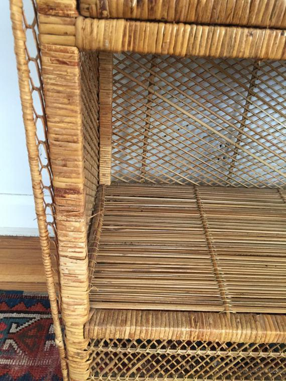 Vintage Rattan Standing Cabinet   Image 6 Of 6