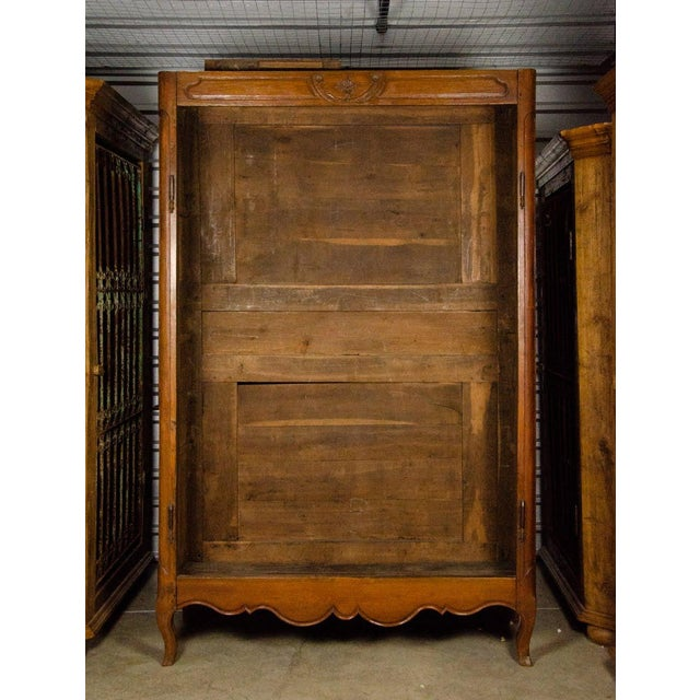 French 19th Century Louis XV Antique French Carved Armoire For Sale - Image 3 of 13