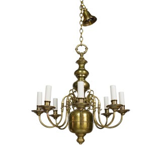 Early 20th Century Dutch Style Eight Arm Chandelier For Sale