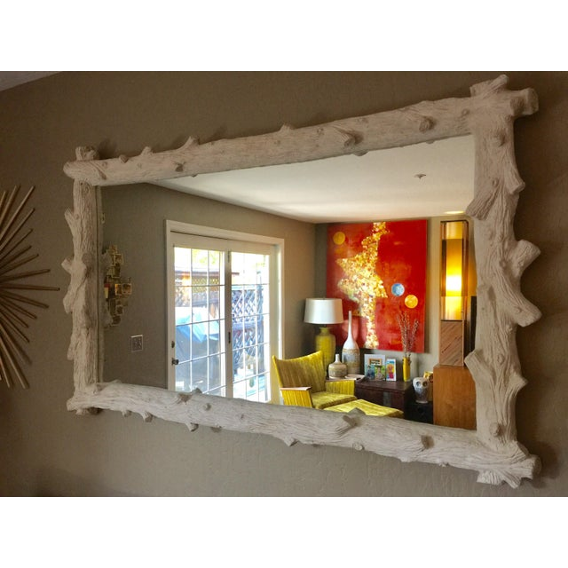 White Oly Studio Faux Bois Mirror For Sale - Image 8 of 8