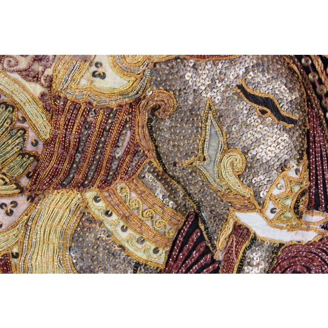 Asian Pasargad DC Hand Made India Beaded Elephant Raised Wall Art - A Pair For Sale - Image 3 of 11