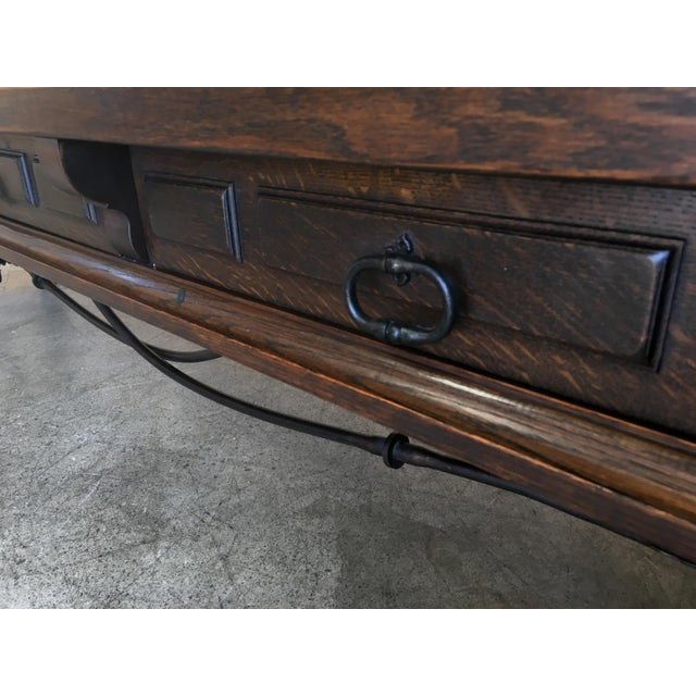Metal 20th Century Spanish Style Console Table Buffet For Sale - Image 7 of 13