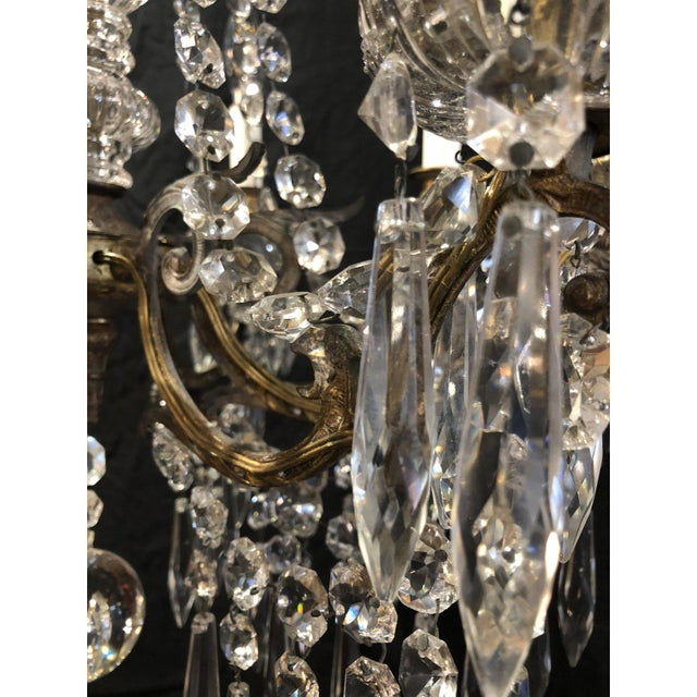 French Napoleon III Signed Portieux Crystal Chandelier For Sale - Image 6 of 9