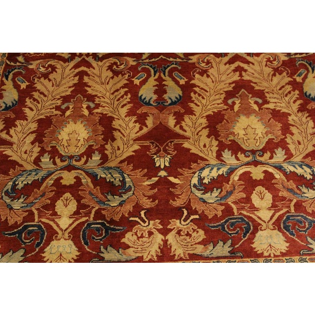 2000s Istanbul Philomen Rust/Tan Turkish Hand-Knotted Rug -4'10 X 6'11 For Sale - Image 5 of 8