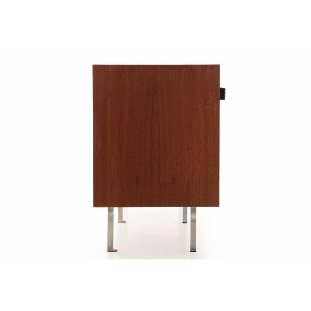 Florence Knoll Walnut and White Laminate Sideboard Credenza, Signed - Image 5 of 11