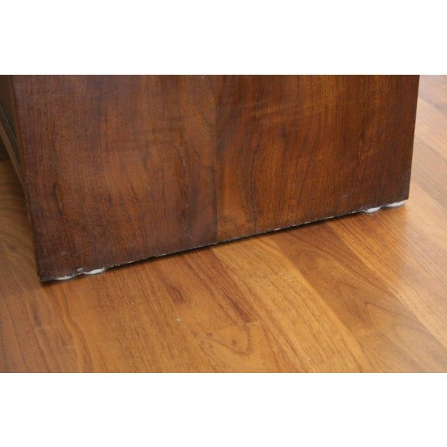 Danish Modern Room Divider Bookcase in Walnut For Sale - Image 10 of 13