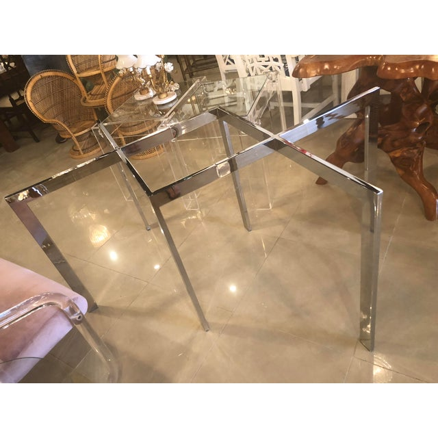 Vintage Milo Baughman Thayer Coggin Chrome Dining Table For Sale - Image 10 of 12