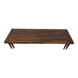John Keal for Brown-Saltman Mid-Century Modern Expandable Slat Bench