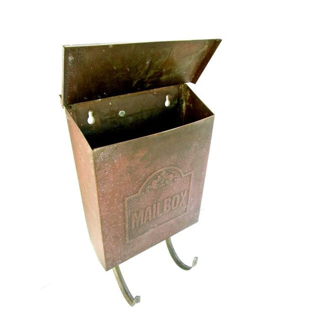 Vintage Copper Wall Mount Mailbox - Image 3 of 5