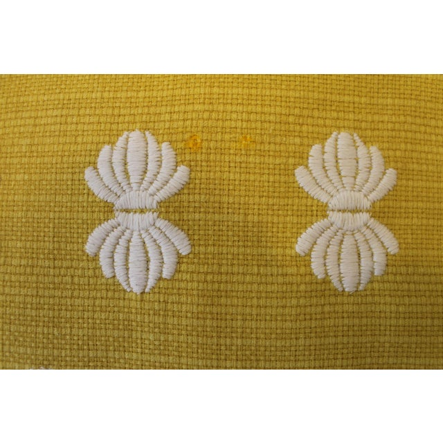 2020s Yellow and White Pillows- A Pair For Sale - Image 5 of 9