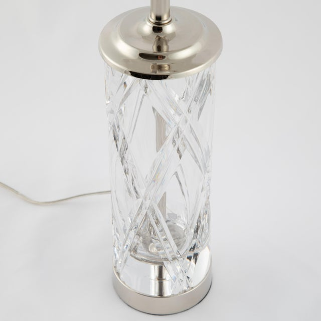 Olle Alberius for Orrefors Hand-Cut-Crystal Table Lamps, Circa 1970s For Sale - Image 12 of 13