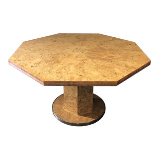 1970's Willy Rizzo for Mario Sabot Pedestal Table For Sale