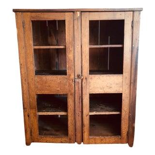 Primitive Pie Safe Storage Cabinet