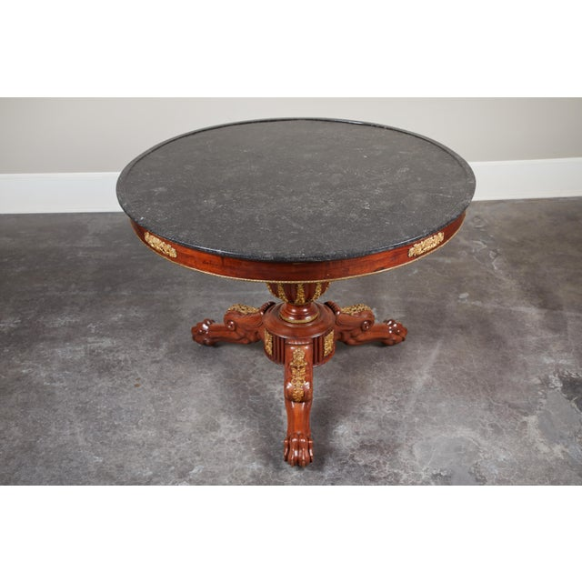 Early 19th Century French Empire Mahogany Pedestal Table with Ormolu For Sale - Image 4 of 8