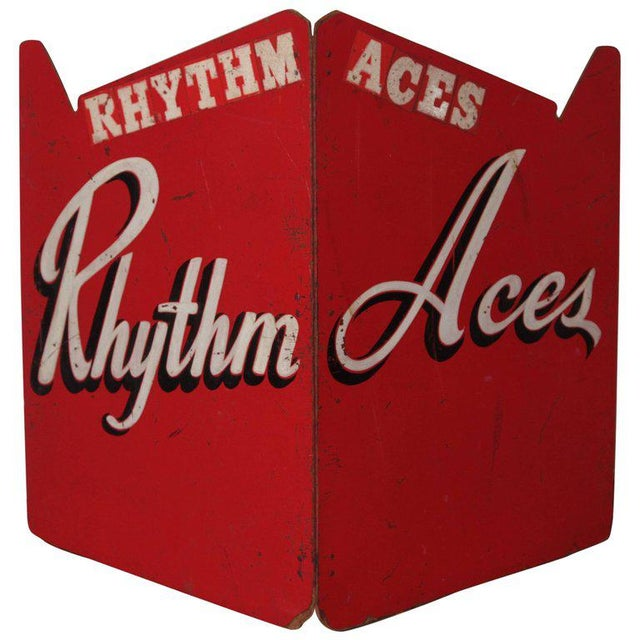 Art Deco Painted Wood Bandstand Rhythm Aces from 1930s-1940s For Sale - Image 11 of 11