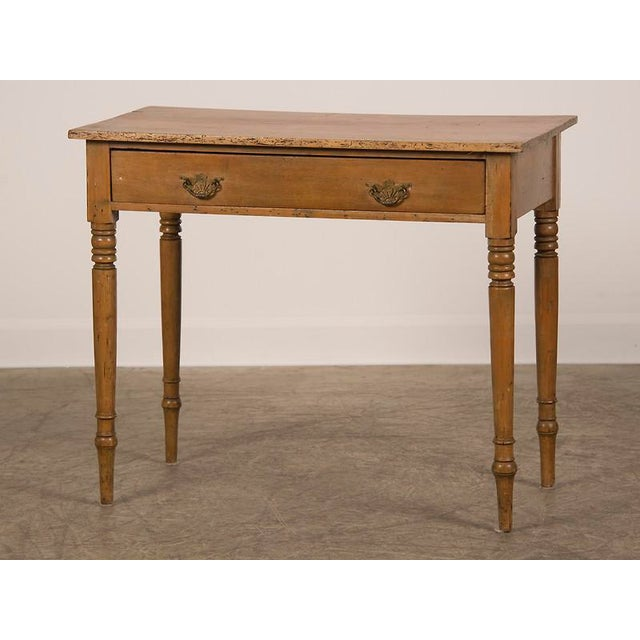 An antique English pine writing table circa 1875. This table shows the  influence of mahogany - Exceptional Antique English Pine Writing Table Circa 1875 DECASO