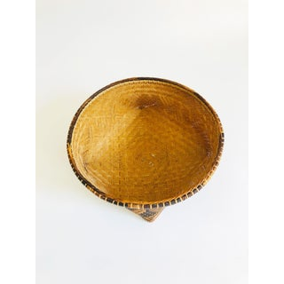 Vintage Two Tone Woven Basket Preview